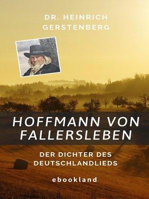 cover image of Hoffmann von Fallersleben