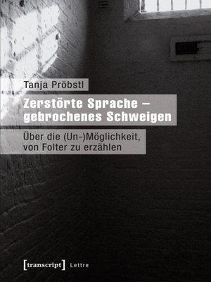 cover image of Zerstörte Sprache