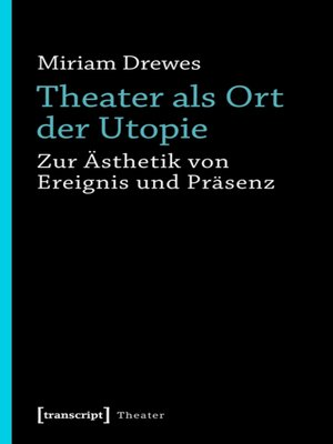 cover image of Theater als Ort der Utopie