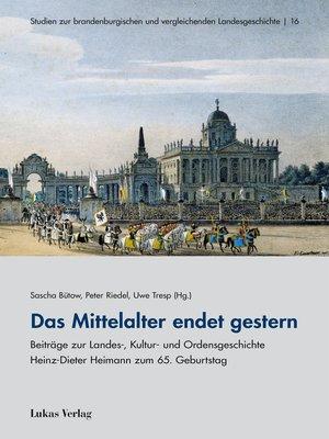 cover image of Das Mittelalter endet gestern