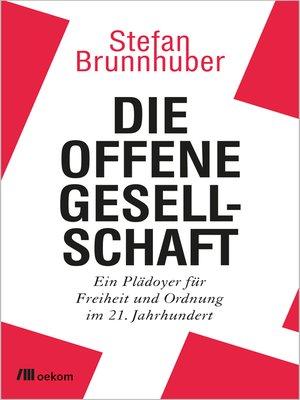cover image of Die offene Gesellschaft