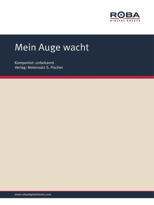 cover image of Mein Auge wacht