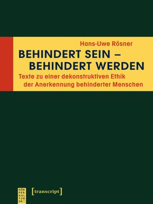 cover image of Behindert sein