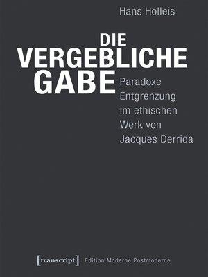 cover image of Die vergebliche Gabe