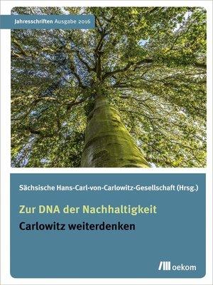 cover image of Zur DNA der Nachhaltigkeit
