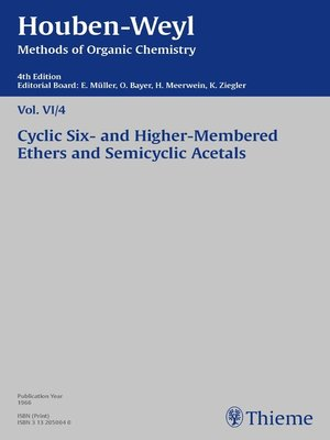cover image of Houben-Weyl Methods of Organic Chemistry Volume VI/4