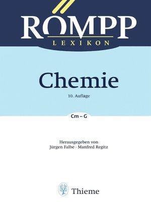 cover image of RÖMPP Lexikon Chemie, 10. Auflage, 1996-1999