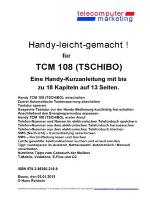cover image of Tchibo TCM 108-leicht-gemacht