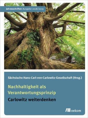 cover image of Nachhaltigkeit als Verantwortungsprinzip