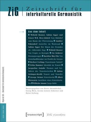 cover image of Serie Zeitschrift für interkulturelle Germanistik, Buch 14