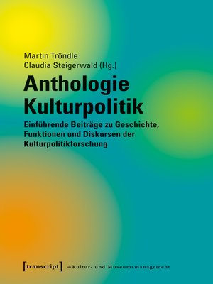 cover image of Anthologie Kulturpolitik