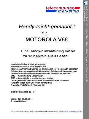cover image of Motorola V66-leicht-gemacht