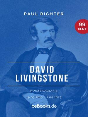 cover image of David Livingstone 1813 – 1873
