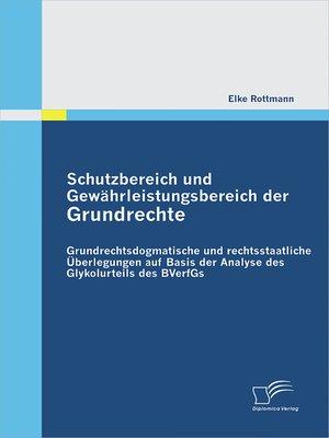cover image of Schutzbereich und Gewährleistungsbereich der Grundrechte