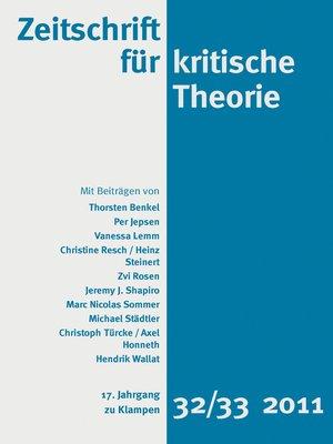 cover image of Zeitschrift für kritische Theorie 17