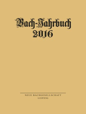 cover image of Bach-Jahrbuch 2016