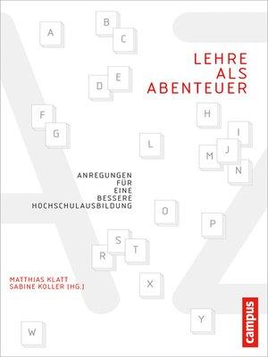 cover image of Lehre als Abenteuer