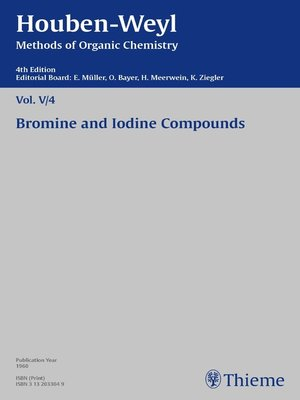cover image of Houben-Weyl Methods of Organic Chemistry Volume V/4