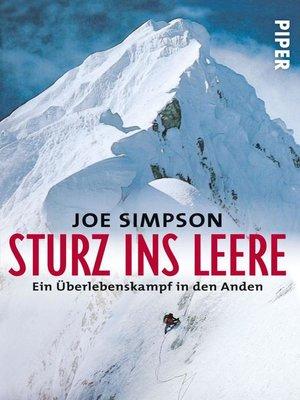 cover image of Sturz ins Leere