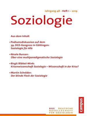 cover image of Soziologie 1/2019