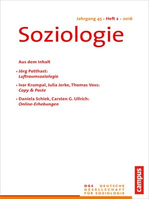 cover image of Soziologie 2.2016