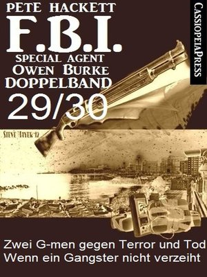 cover image of FBI Special Agent Owen Burke Folge 29/30--Doppelband