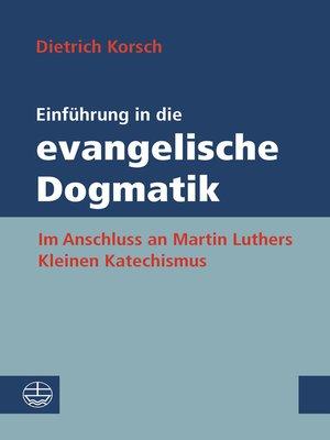 cover image of Einführung in die evangelische Dogmatik