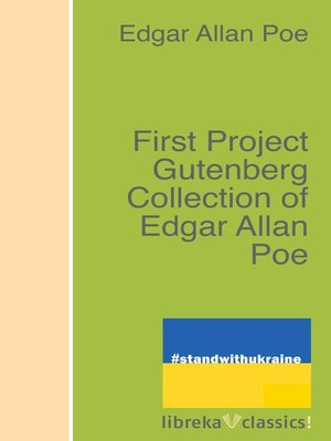 cover image of First Project Gutenberg Collection of Edgar Allan Poe