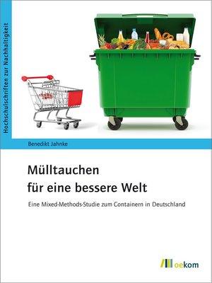 cover image of Mülltauchen für eine bessere Welt