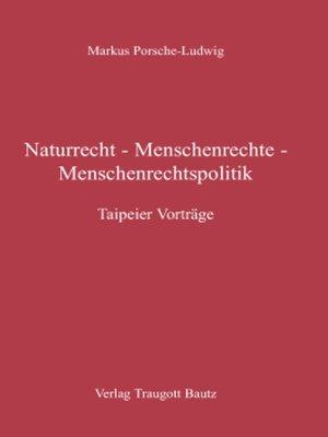 cover image of Naturrecht--Menschenrechte--Menschenrechtspolitik
