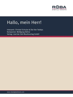 cover image of Hallo, mein Herr!