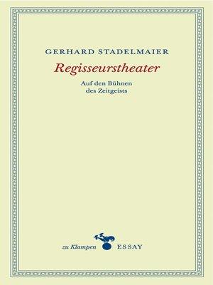 cover image of Regisseurstheater