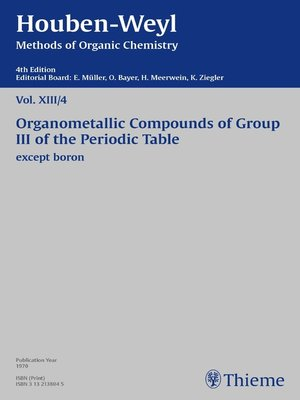 cover image of Houben-Weyl Methods of Organic Chemistry Volume XIII/4