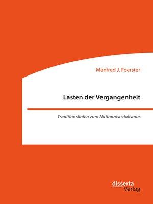 cover image of Lasten der Vergangenheit
