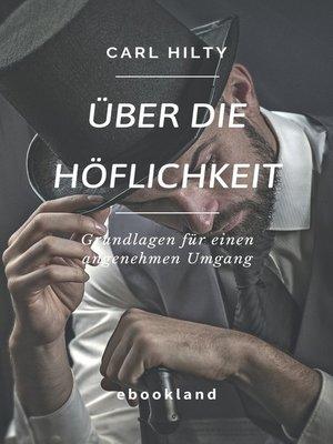 cover image of Über die Höflichkeit