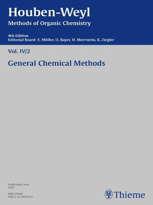 cover image of Houben-Weyl Methods of Organic Chemistry Volume IV/2