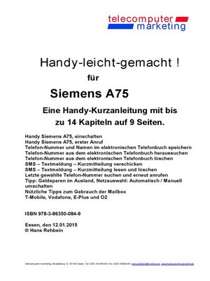cover image of Siemens A75-leicht-gemacht