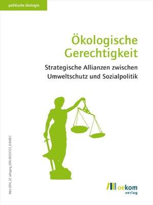 cover image of Ökologische Gerechtigkeit