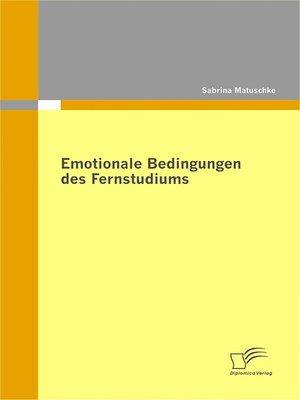 cover image of Emotionale Bedingungen des Fernstudiums