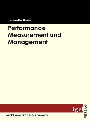 cover image of Performance Measurement und Management