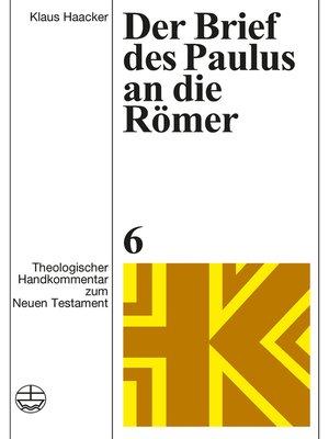 cover image of Der Brief des Paulus an die Römer