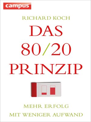cover image of Das 80/20-Prinzip
