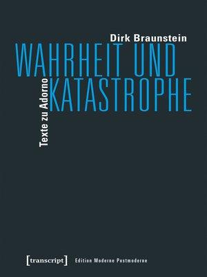 cover image of Wahrheit und Katastrophe