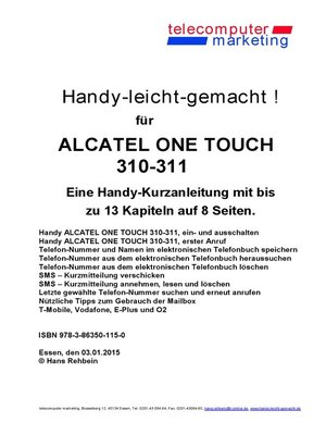 cover image of Alcatel One Touch 310-311-leicht-gemacht