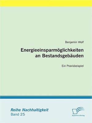 cover image of Energieeinsparmöglichkeiten an Bestandsgebäuden