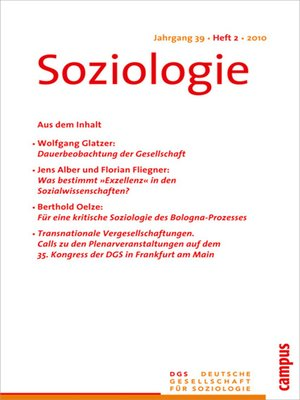 cover image of Soziologie 2.2010