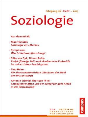 cover image of Soziologie 1.2017