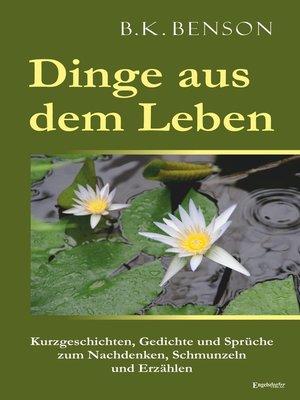 cover image of Dinge aus dem Leben