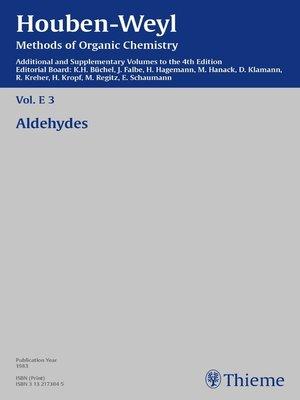 cover image of Houben-Weyl Methods of Organic Chemistry Volume E 3 Supplement