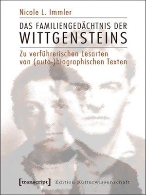 cover image of Das Familiengedächtnis der Wittgensteins